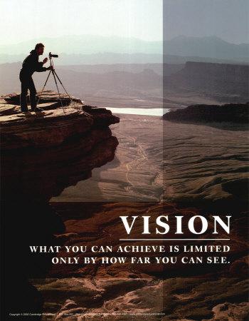 Visión es mirar mas allá de nuestro Limite.